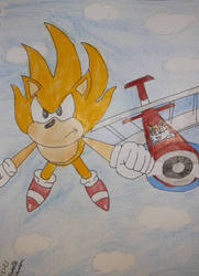 Sonic and Tails's flight Sketch