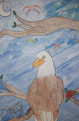 Eagle's Fourth of July Sketch
