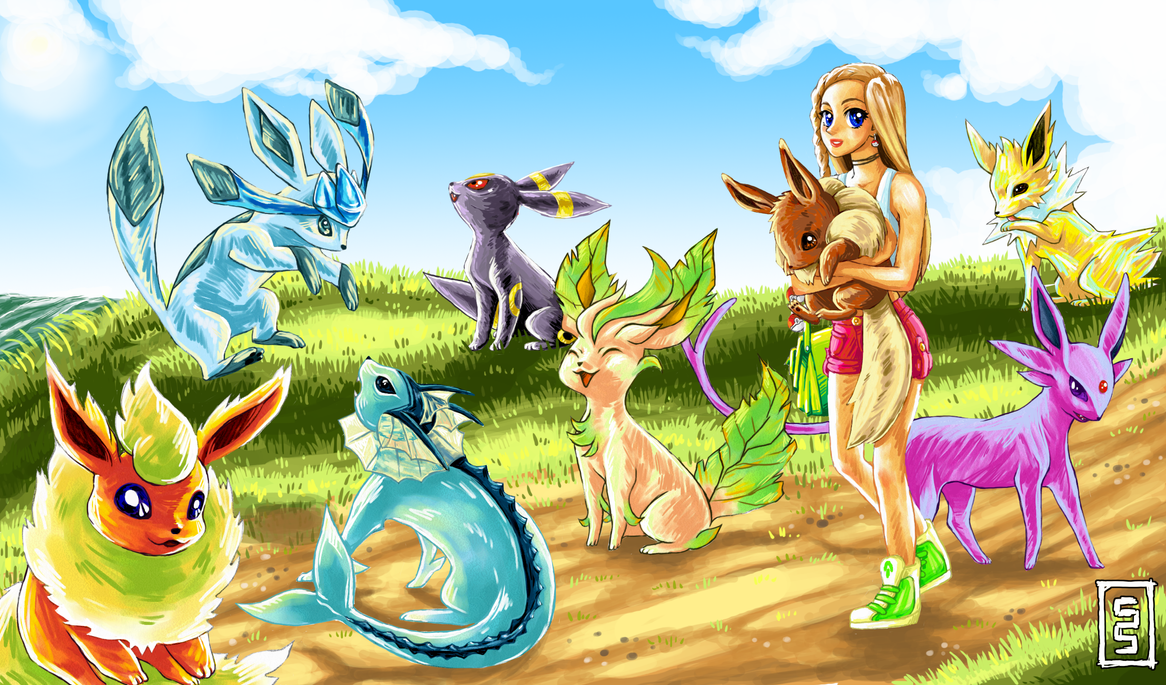 Team Eevee by cerasly