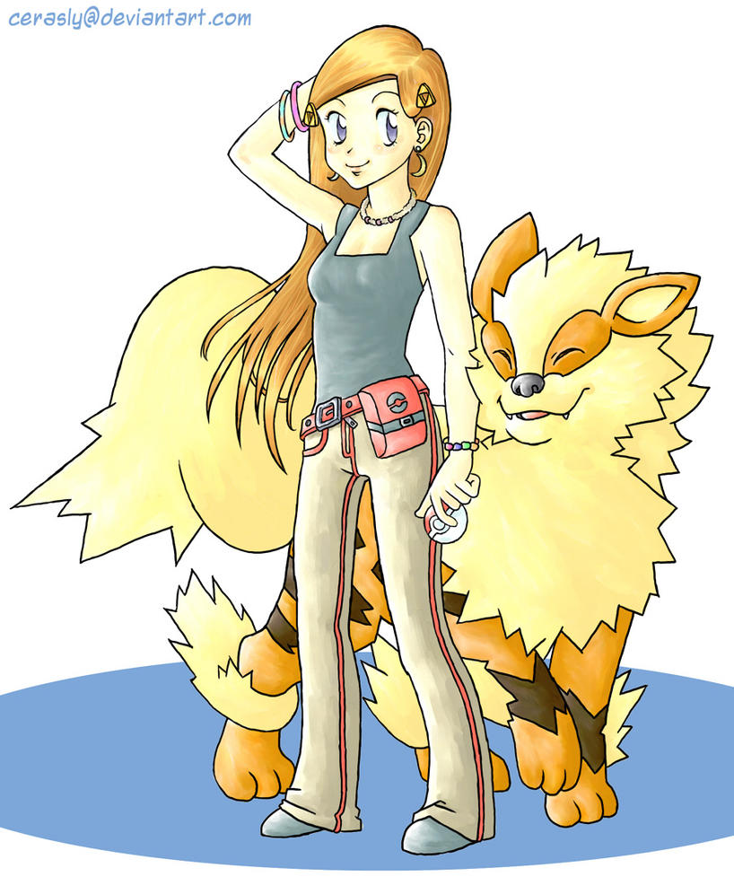 Pokemon Trainer with Arcanine by cerasly