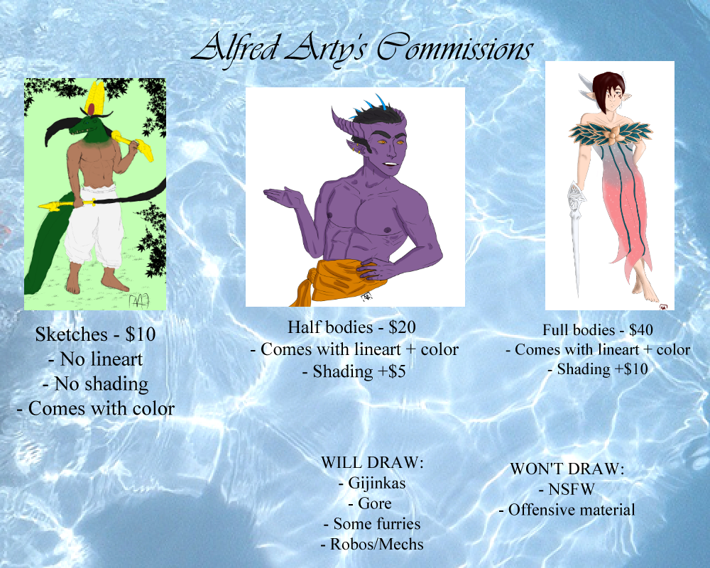 Alfred Arty's Commissions by alfredarty