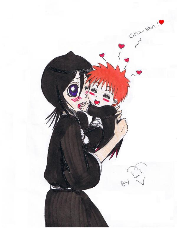 Ichigo And Rukia Baby rukia and baby colored by