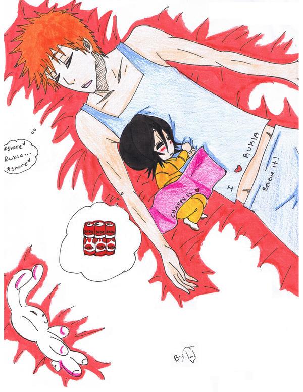 Ichigo And Rukia Baby Sleep ichigo and baby ...