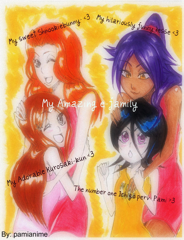 My e family by pamianime on deviantart for Bleach nice vibe shirt