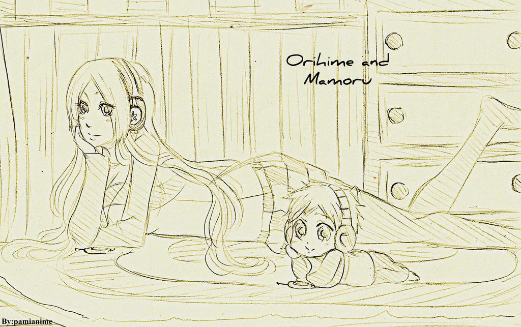 Orihime and Mamoru by Pamianime
