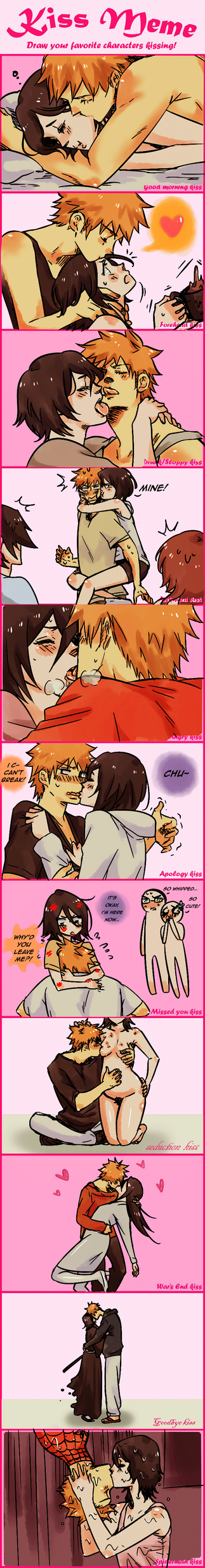IchiRuki Kiss Meme by Pamianime