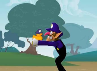 Waluigi and his Duck