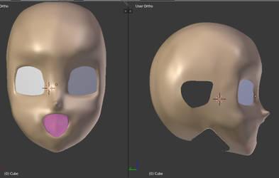3D head by Crystall00707