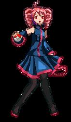 Pokemon Trainer Kasane Pixel Art by Crystall00707
