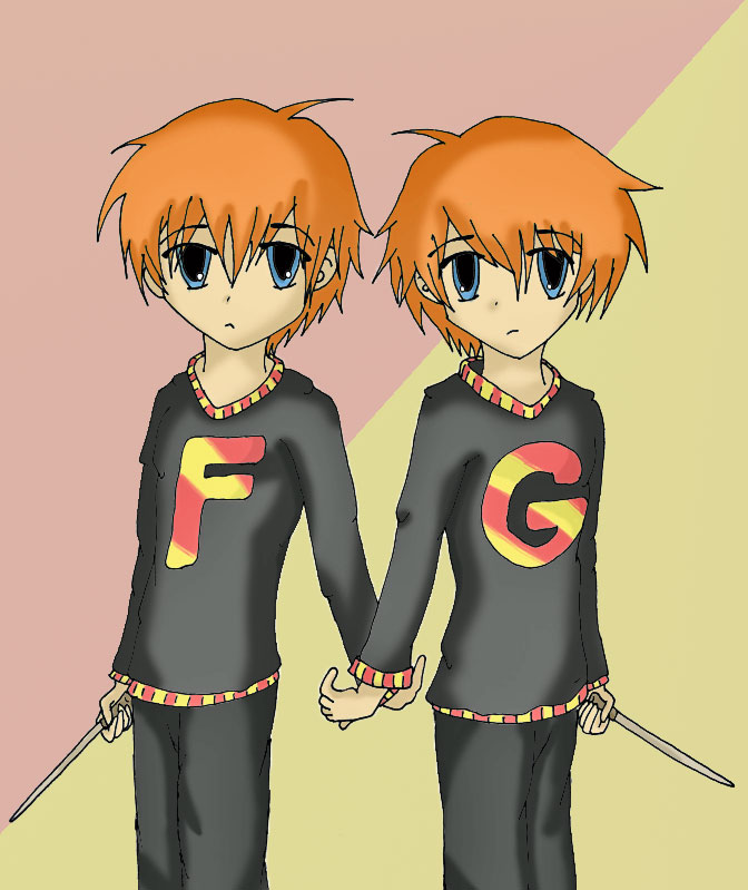 Fred And George Weasley Anime Sad Fred and George Weasley byFred And George Weasley Anime