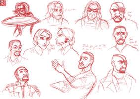 The Winter Soldier Sketchdump 3 by DominicDrawsArt