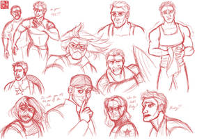 The Winter Soldier Sketchdump 1 by DominicDrawsArt
