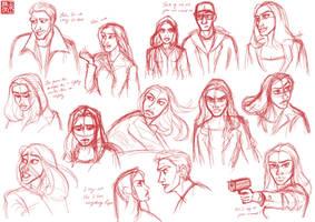 The Winter Soldier Sketchdump 2 by DominicDrawsArt