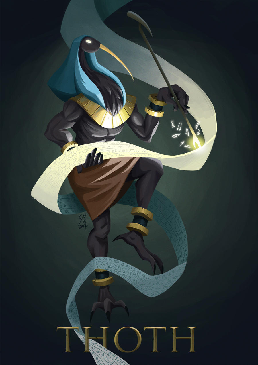 Thoth by DominicDrawsArt