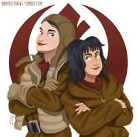 Paige And Rose by DominicDrawsArt
