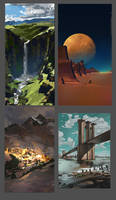 Digital painting color studies from photo