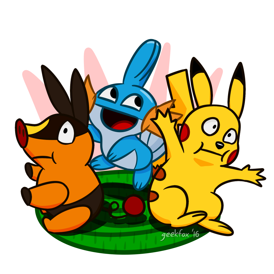 Mudkip And Pikachu Coloring Pages