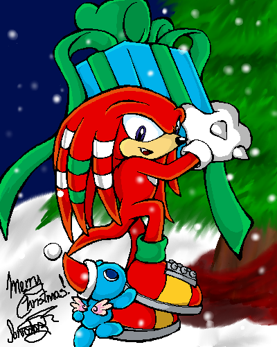 - Merry Christmas - Knuckles by sonicolas