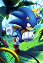 Wind Runner, Sonic the Hedgehog by sonicolas