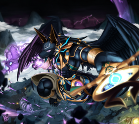 Guardian of Sandluma Mountains Dragon Den, Anubis by sonicolas