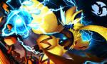 Fire Fighting Lightning, Zeraora by sonicolas
