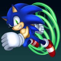 SSBU Blue Team Member Sonic
