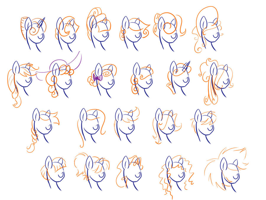 mlp hair style mlp hair styles by littlegenius13 on deviantart 3448