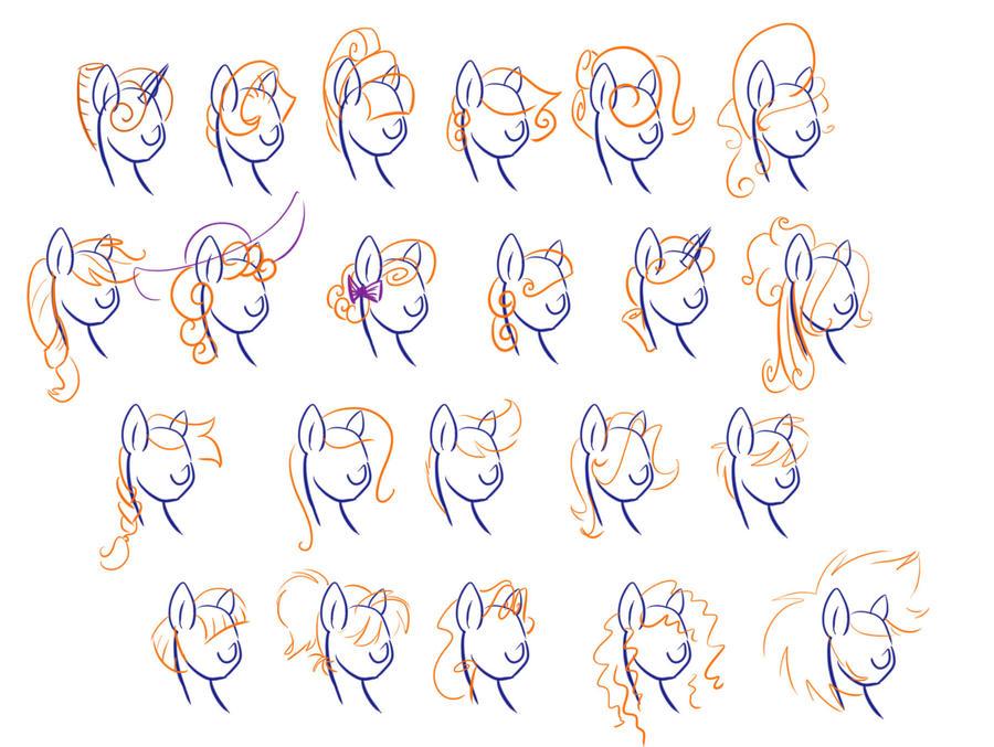 Как сделать причёски для пони