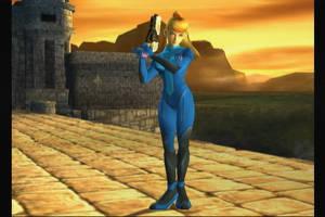 -Zero Suit Samus SSBB- by DarkShadowRage