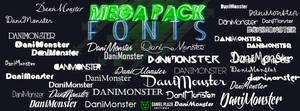 MegaPack de Fonts DaniMonster