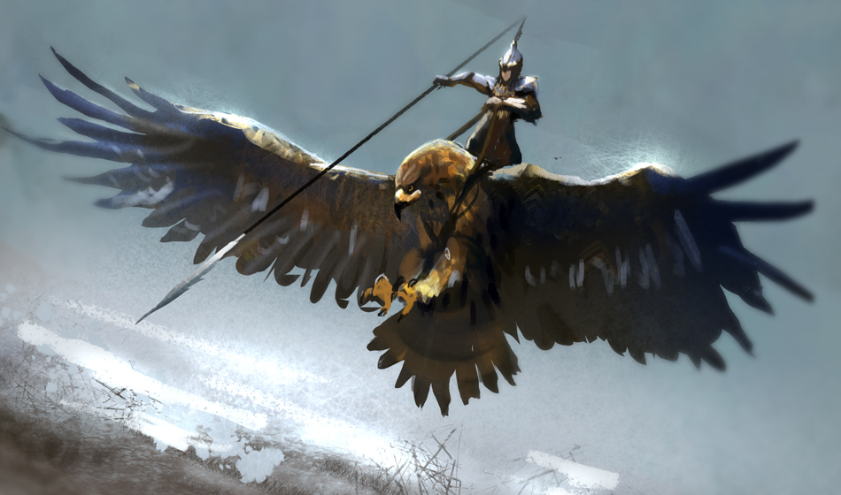giant eagle cavalry by conorburkeart on deviantart