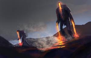 Lava Falls by conorburkeart