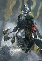 Victarion Greyjoy by conorburkeart
