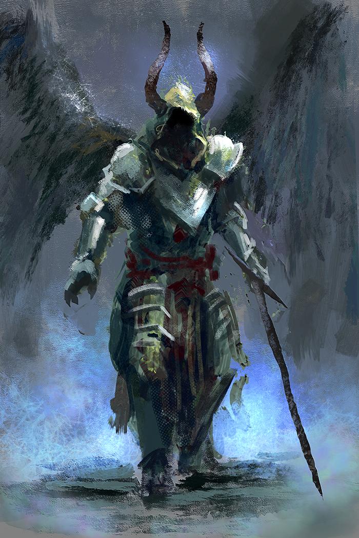 Fallen Angel by conorburkeart