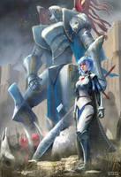Neon Genesis Evangelion Fantasy Redesign by conorburkeart