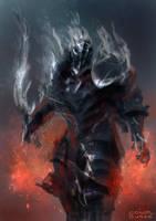 Smoke Knight by conorburkeart