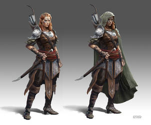 Elf Ranger by conorburkeart