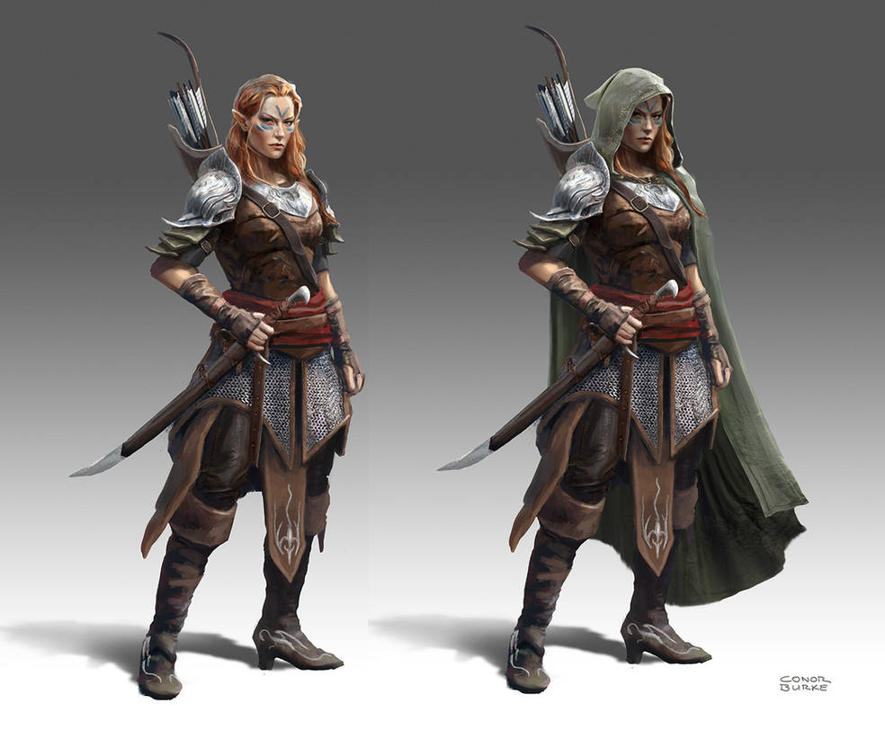 Elf Ranger by conorburkeart