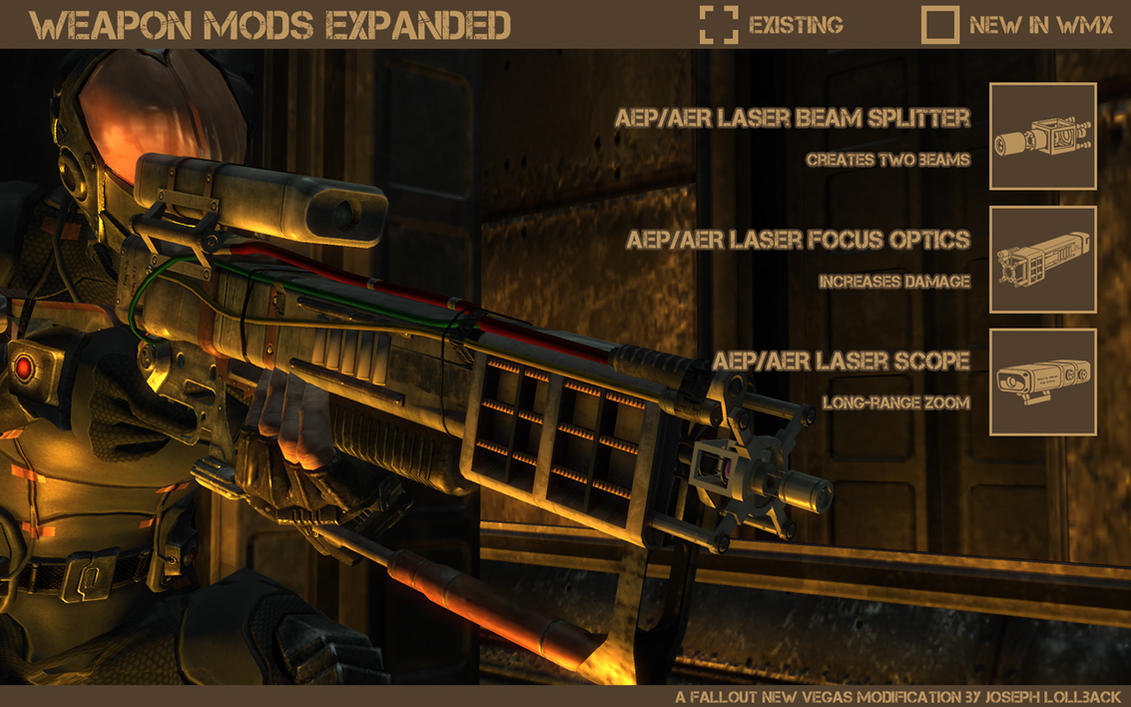 fallout aer 14 laser rifle prototype modified by maltian on deviantart