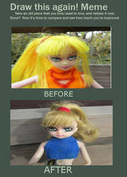 Samus doll: Before and After by Boschian-Fantasies