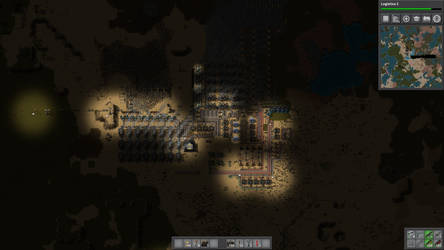 Factorio Base. Multiplayer, in-game Day 20.