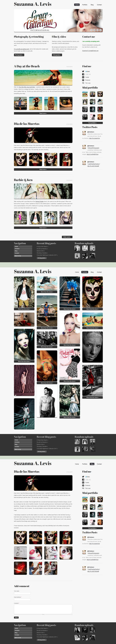 Photography Portfolio Site: Suzanna A Levis by Kiorrik