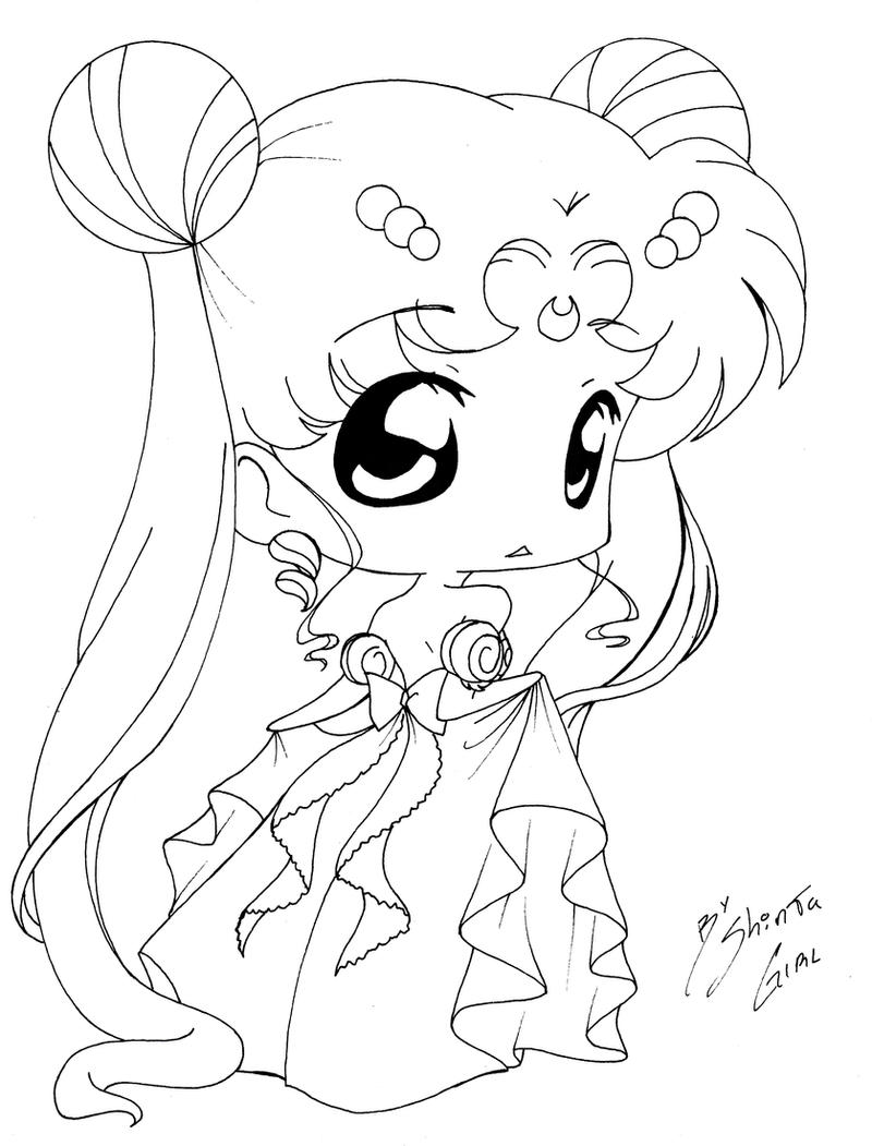 chibi girl coloring pages - chibi princess by shinta girl on deviantart