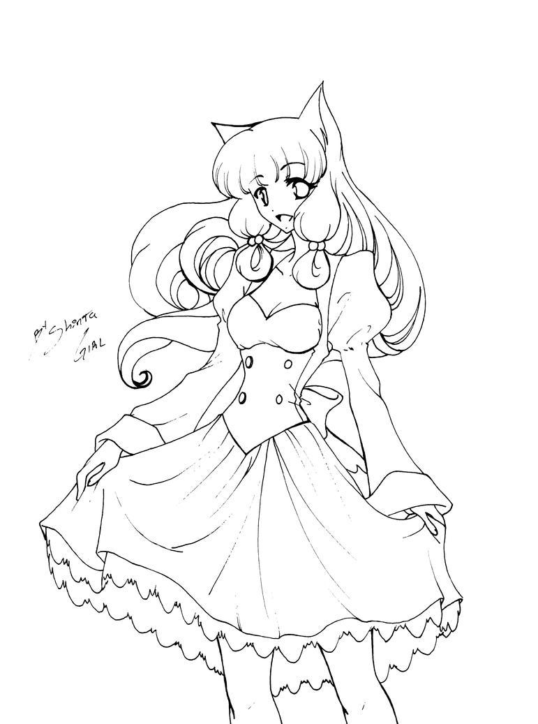 How To Draw Neko Anime Neko Coloring Pages Printable