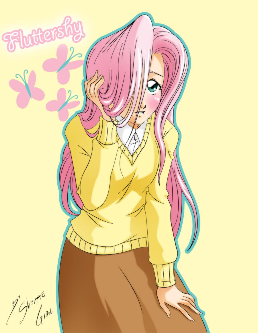 Fluttershy Humana by Shinta-Girl