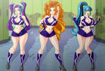 Comission - Cheer-Dazzlings V2