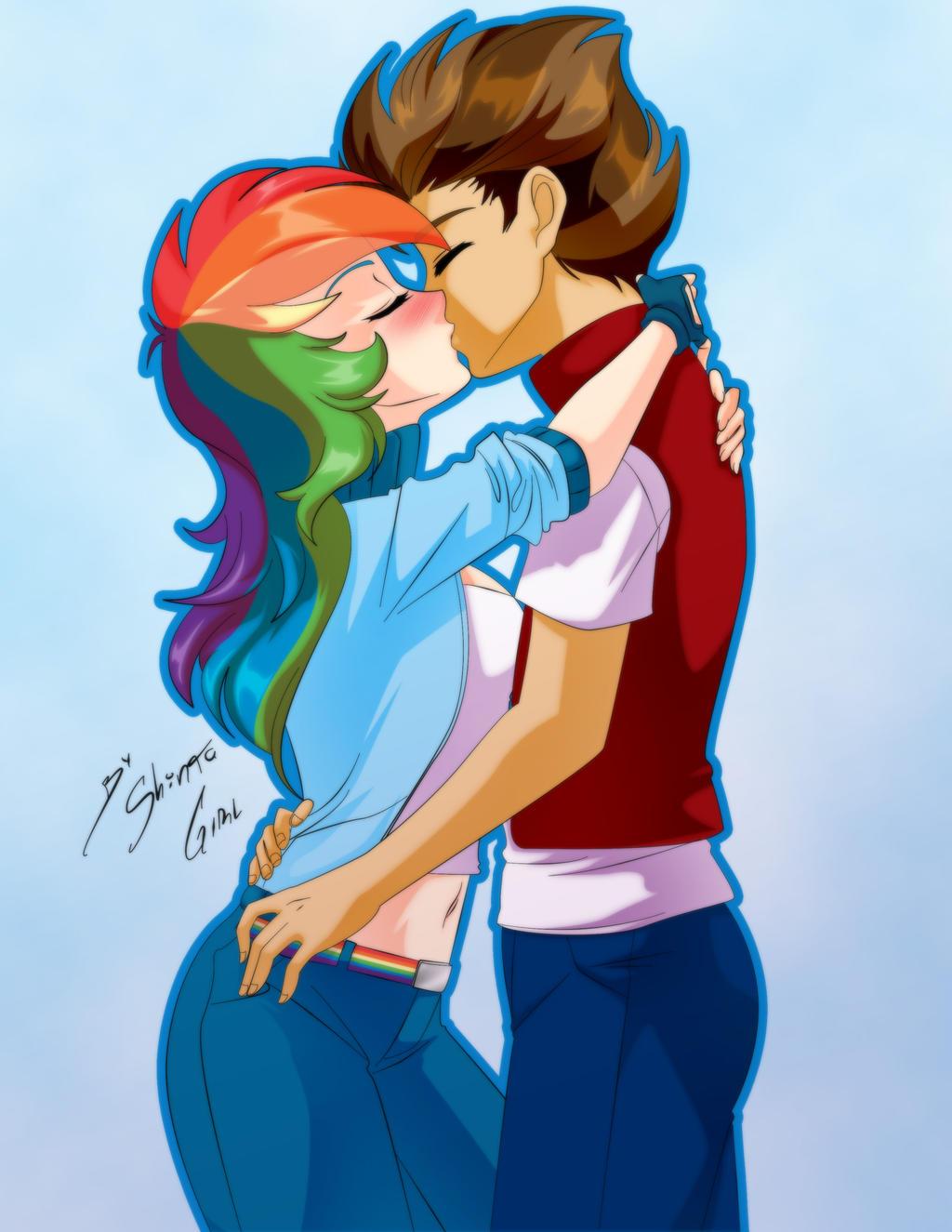 ... Comission   Rainbow Dash + Oc By Shinta Girl