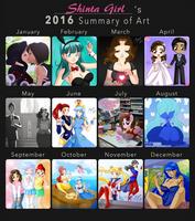 2016 Summary of Art by Shinta-Girl