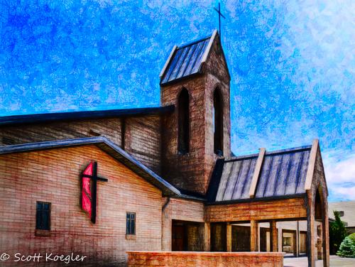 St Johns Meth Kingman AZ by Photominimalist