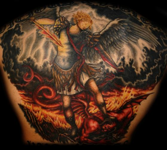 Fallen Angel Tattoo Arch Angel Michael